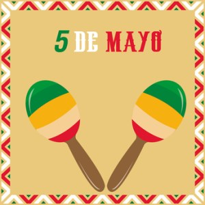 Colored background with traditional elements for may 5th. Vector illustration