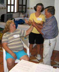 Akaisha teaching Thai massage in Mexico