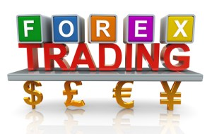 3d render of forex trading concept