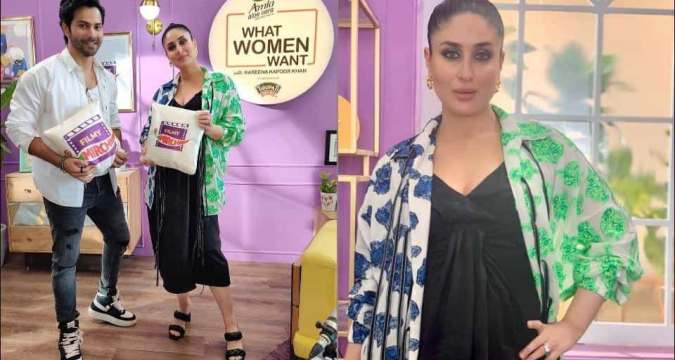 Kareena Kapoor Khan hosts Varun Dhawan on What Women Want, her unisex tie-up shirt has us hooked