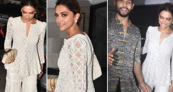 Deepika Padukone's all white sharara at Siddhant Chaturvedi's Diwali party is perfect for low-key festivities amid coronavirus lockdown