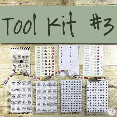 Tool Kit #3 Planner Pops Product
