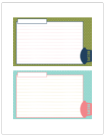 Domestic Bliss Memory Album Printable Recipe Cards