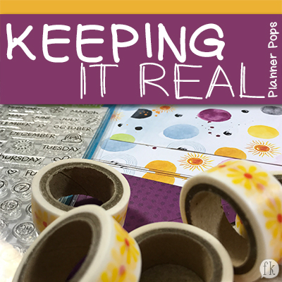 Sneak Keeping It Real Planner Pops - Featured