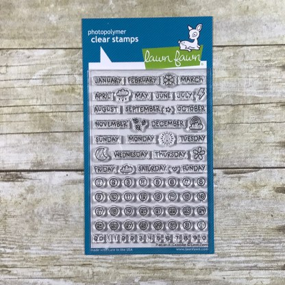 Keeping It Real Planner Pops - Gallery Lawn Fawn Stamp Set