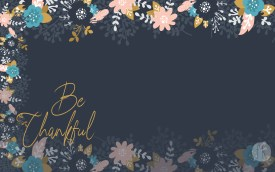 November Wallpaper: Be thankful - Simple