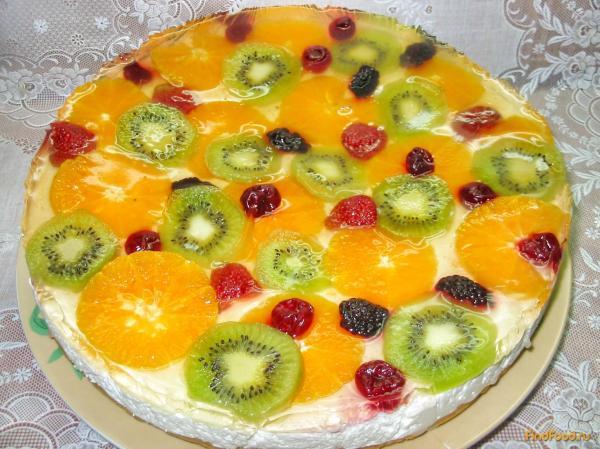 Желейный торт с фруктами рецепт с фото