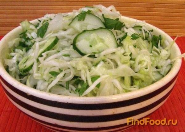 Салат из свежей капусты с огурцами рецепт с фото