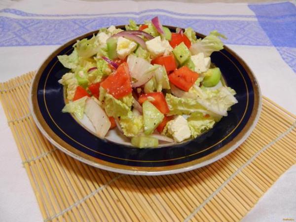 Быстрый салат из пекинской капусты рецепт с фото