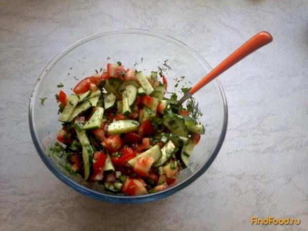 Быстрый салат из овощей рецепт с фото