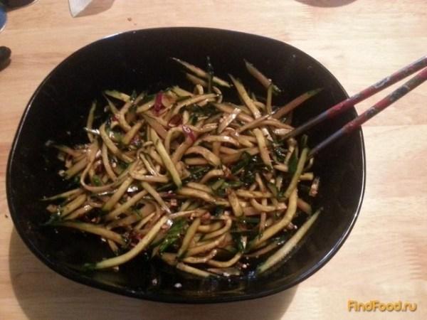 Китайский острый салат из огурцов рецепт с фото