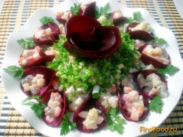 Салат из сельди и свеклы рецепт с фото