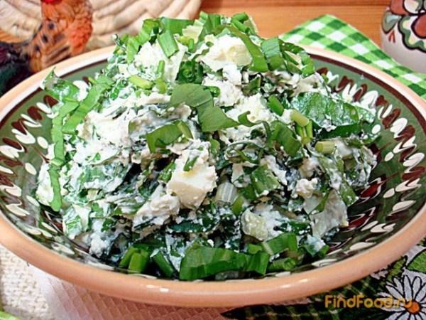 Салат из черемши рецепт с фото