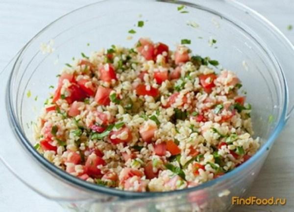 Салат из булгура с помидорами рецепт с фото