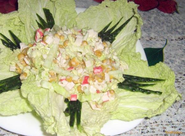 Салат из пекинской капусты рецепт с фото