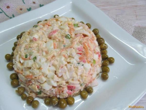 Салат из крабовых палочек и моркови рецепт с фото