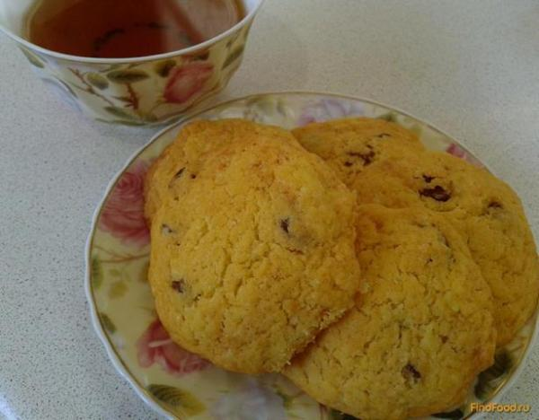 Песочное печенье на маргарине с изюмом рецепт с фото