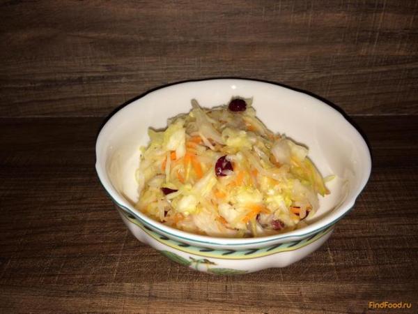Сладкая квашеная капуста с клюквой рецепт с фото