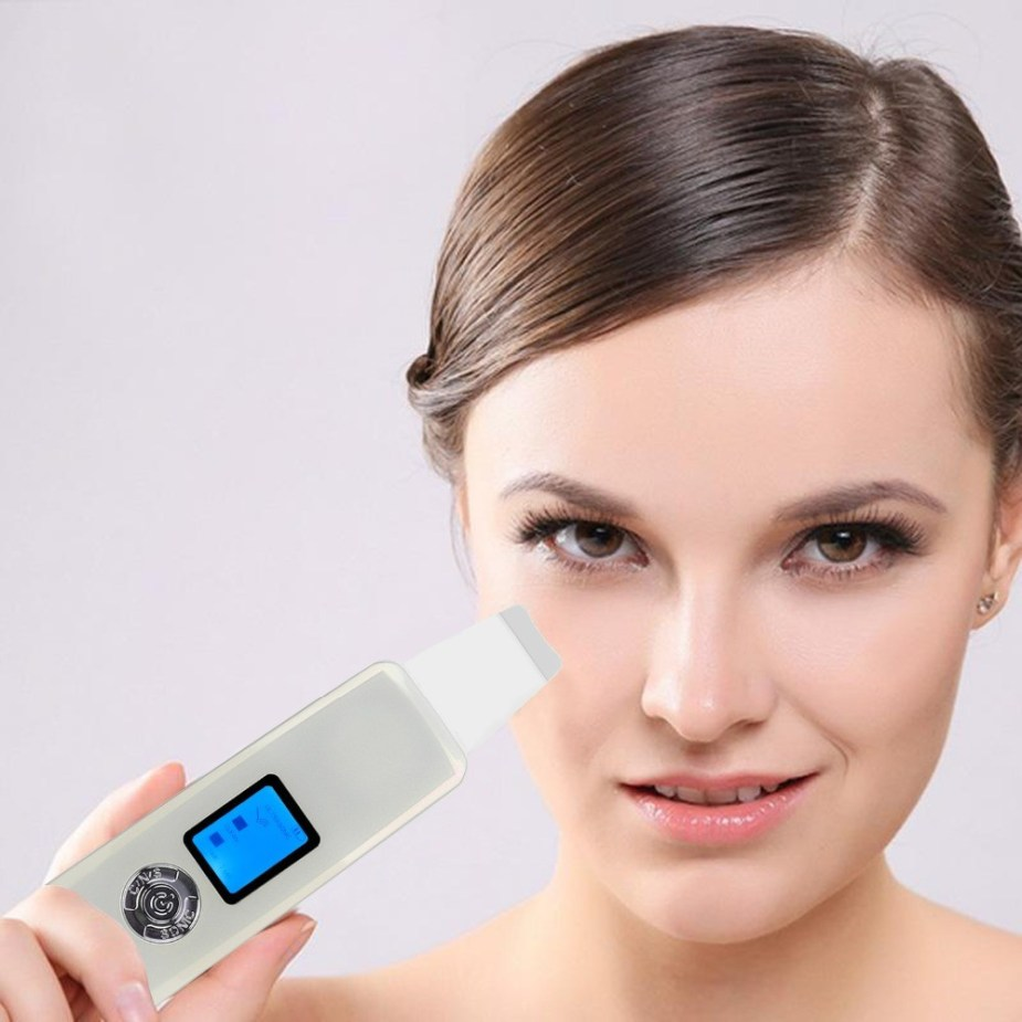 Ultrasonic Skin Scrubber Spatula & Facelift Device