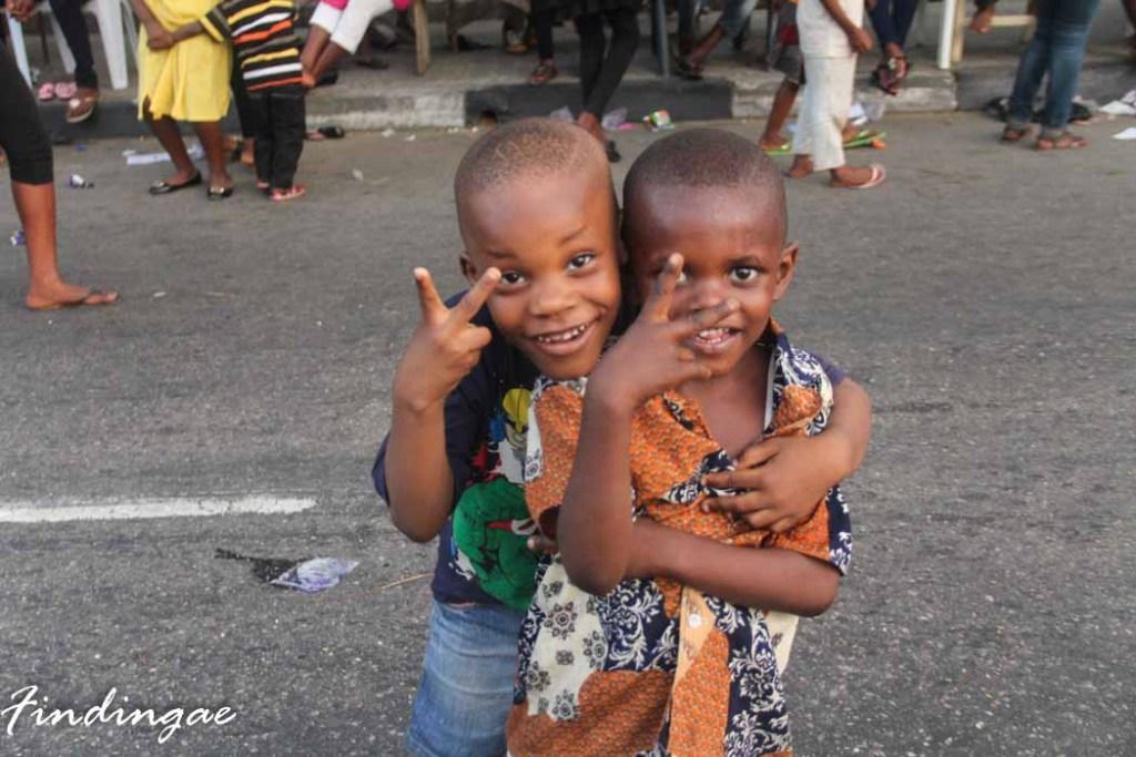 Boys at Calabar Festival