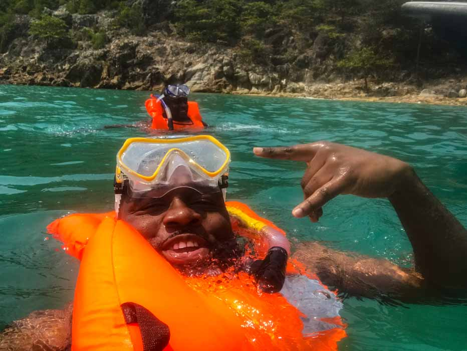 Snorkeling in Sao Tome