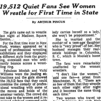 On Lawsuits for Licenses: The Fight for Women's Wrestling in New York, part 4