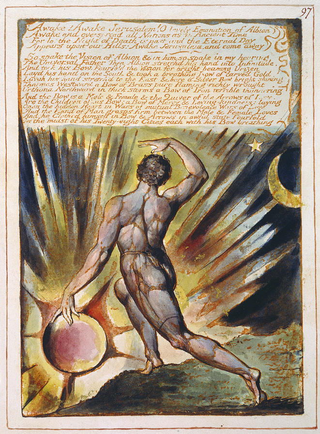 Jerusalem, Albion Rising - a universal awareness. From The William Blake Archive