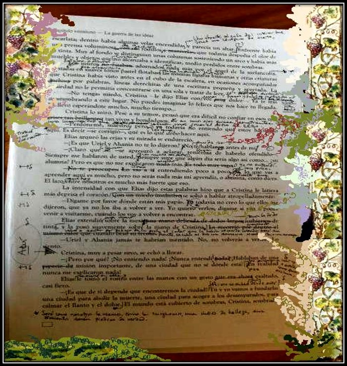 Revising the manuscript Image by Adriana Díaz-Enciso