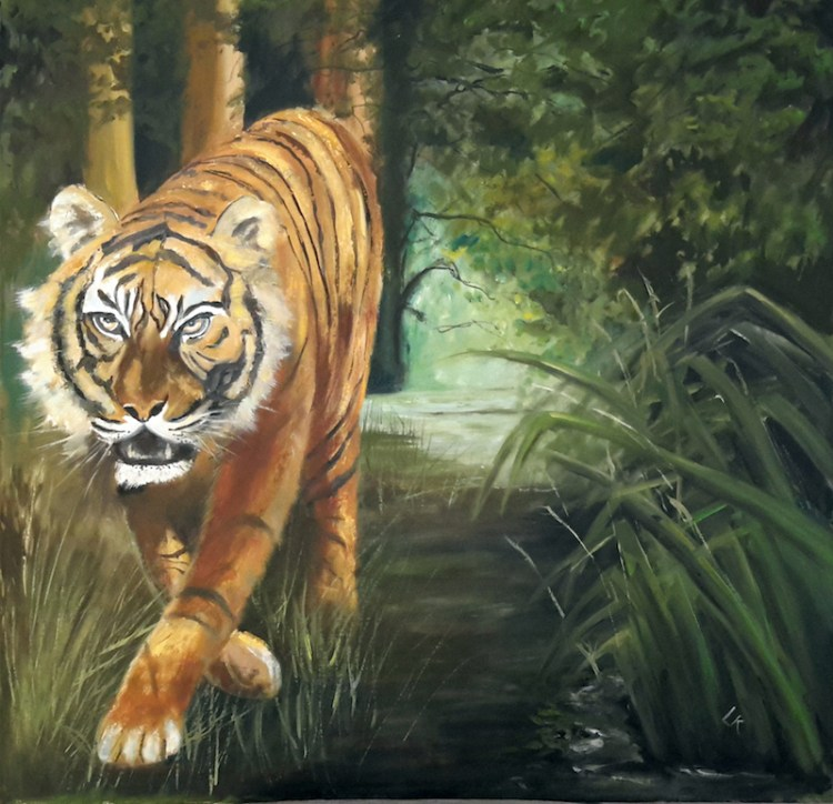 The Tyger! Painting by Linda Richardson