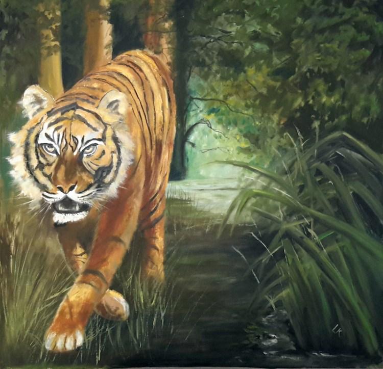 The Tyger! Painting by Linda Richardson