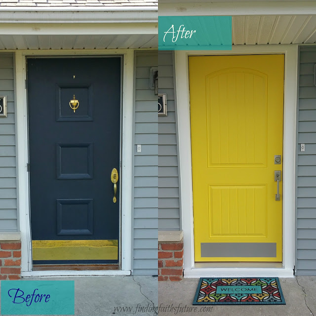 DIY Front Door: Before and After