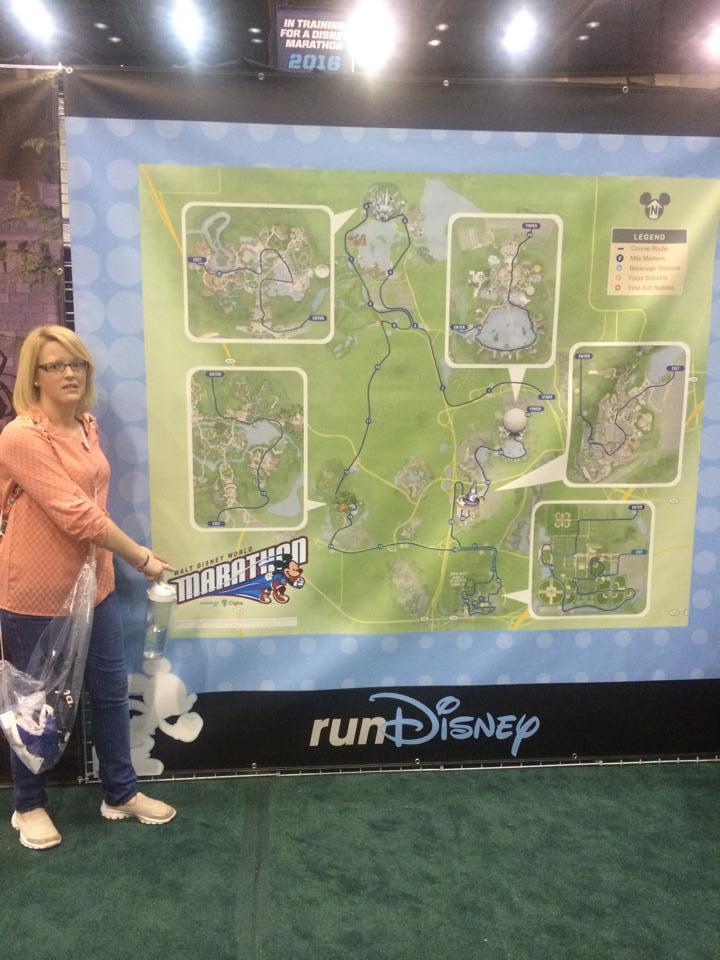 At the runDisney Marathon Weekend Expo in 2015 to pick up my first bag of runDisney merchandise.