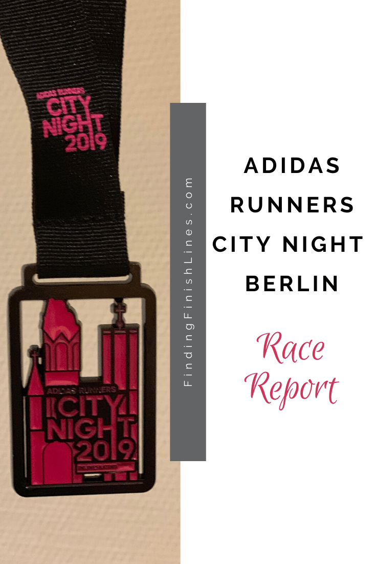 Adidas runners city night Berlin finisher medal