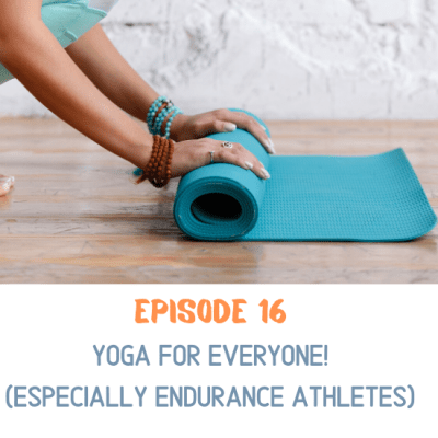 Woman rolling up her yoga mat after a practice. Yoga is for everyone!