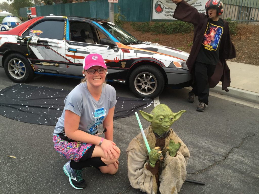 Master Yoda came to be a people lifter at runDisney Star Wars Half Marathon Weekend. Race spectators help athletes break the chains that come from lies about our abilities.