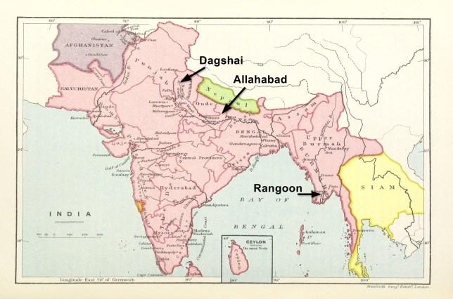 India Map 1893