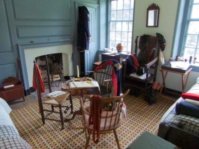 Bedroom at Washington's headquarters in Valley Forge