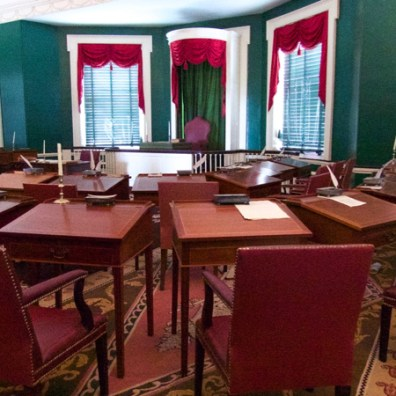 Senate Chamber, Congress Hall, next to Independence Hall, Philadelphia