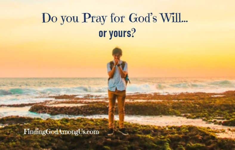 "God gives us free will to have our own desires and wishes. He said, ""Ask and you shall receive."" But we pray, ""They will be done"" in The Lord's Prayer. So, which one is it? Should we ask for our wishes or pray for God's perfect will to be done?"