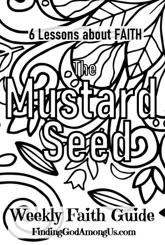 Parable of the Mustard Seed Coloring Page Booklet