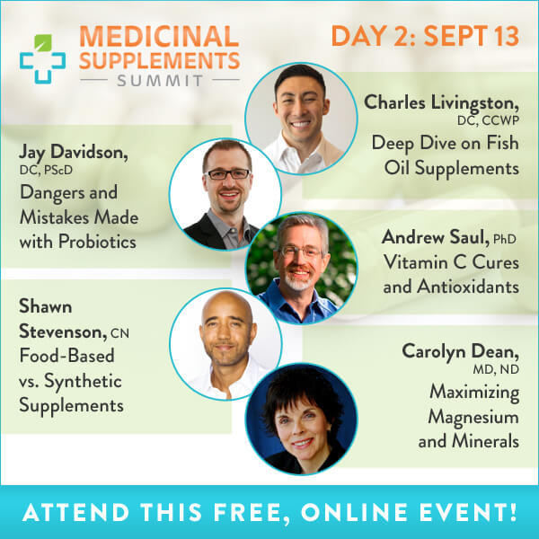 Medicinal Supplements Summit Day 2: What Kind of Supplements You Should Take and How
