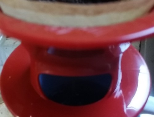 Melitta 1-cup Pour-Over Coffee Brewer package steeping