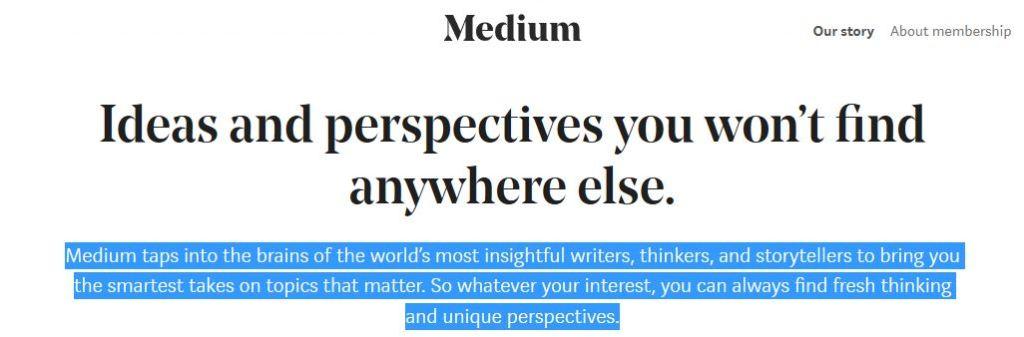 About Medium