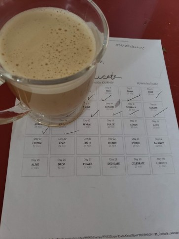 Coffee + yoga schedule