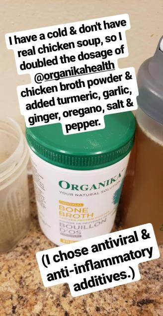 organika chicken bone broth protein powder