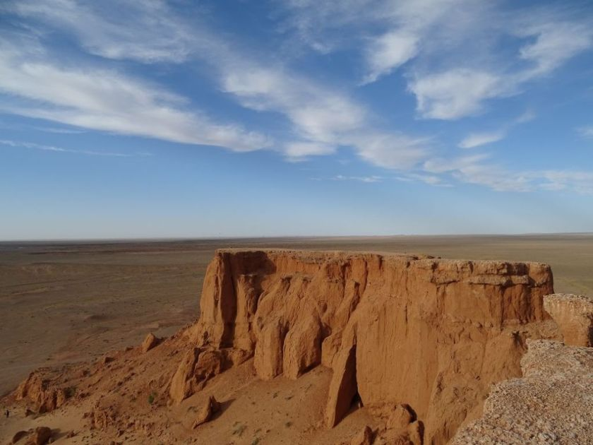 Flaming Cliffs in der Gobi Wüste, Mongolei