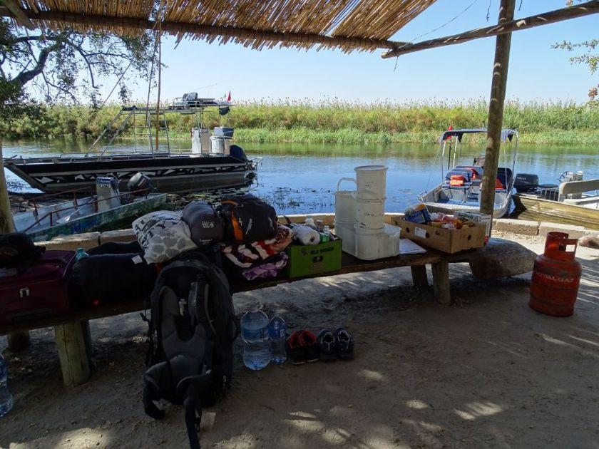 Gepäck für das Okavango Delta