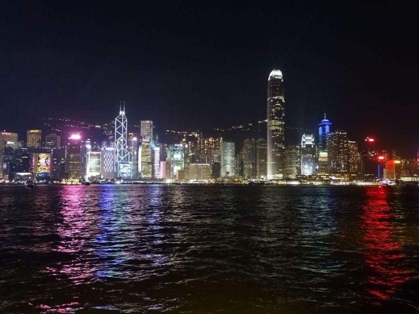 Lichtermeer, Hongkong bei Nacht, China