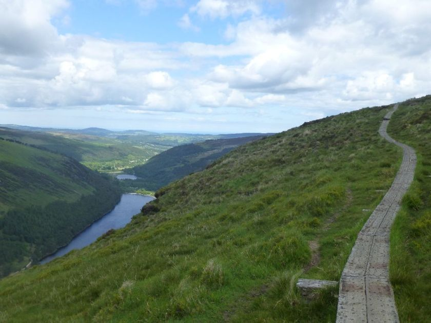 Wanderweg Glendalough Spinc