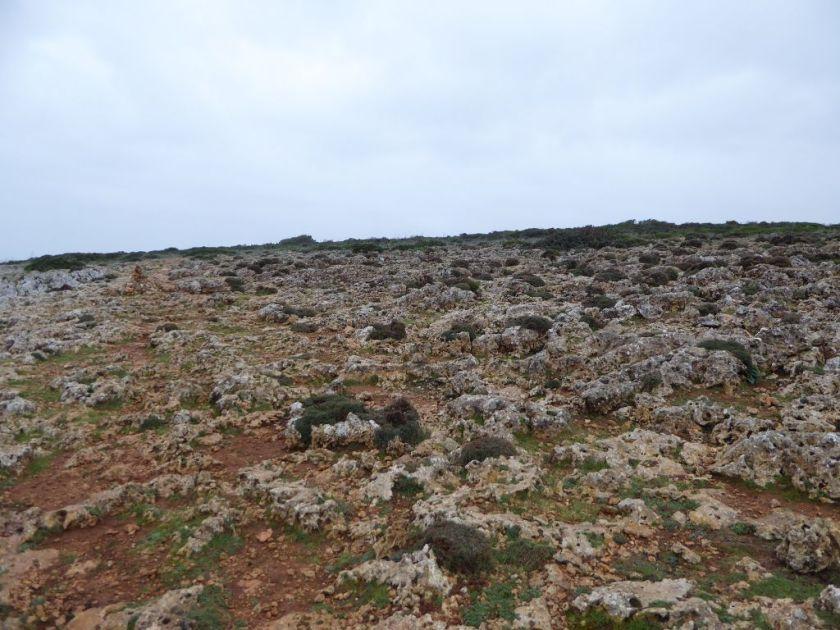 Verkarsteter Fels Wanderung